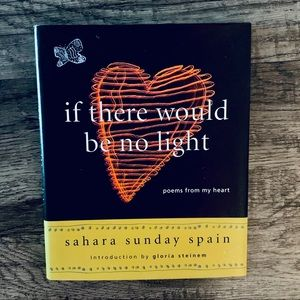 if there would be no light hardback book of poems